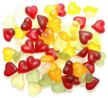 Colorful Sugar Free Hearts - 16 oz - gluten free, lactose free, sugar free
